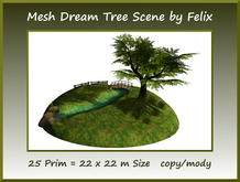 Mesh Dream Tree Scene 25 prim=22x22m Size copy/mody
