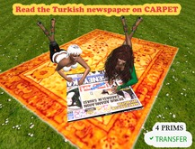 READ THE TURKISH NEWSPAPER ON CARPET (FOR 2 PEOPLE) IN BOX