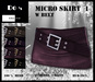 Micro Skirt w Belt 1