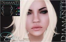 :Diamante: Dignity - Double Ring Nose Piercing