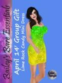 Lemon Rock Candy Dress (April 2014 Group Gift)