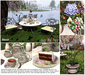 """Aphrodite """"Spring buterflies""""  tea garden table set- Special gift for mothers day too!"""