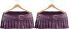Blueberry Ave *Mesh* Leather Pleated & Belted Skirts (Silver & Gold Metals) Purple