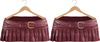 Blueberry Ave *Mesh* Leather Pleated & Belted Skirts (Silver & Gold Metals) Rose