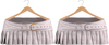 Blueberry Ave *Mesh* Leather Pleated & Belted Skirts (Silver & Gold Metals) White