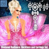 Alyssa Bijoux - Diamond Radiance Necklace & Earring Set by Alyssa Bijoux