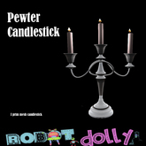 Robot Dolly - Pewter Candlestick