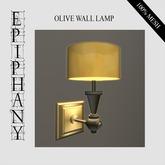 Olive Round Wall Lamp (1 Prim, 100% Mesh)
