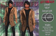 LENNART Mens Mesh Overcoat Outfit - Brown