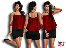 Lady in Red - Anneta - Airly Shirt & Skirt