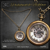 [The Forge] Pocketwatch Necklace, Silver (Box)