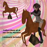 :SS: Freebie Mechanical Horse Ride - Orange :: Gacha Prize