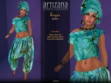 Artizana - Kayes (Aqua) - African Outfit + Head Wrap