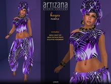 Artizana - Kayes (Purple) - African Outfit + Head Wrap