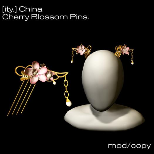 [ity.] China - Cherry Blossom Hair Pins (Design 1)
