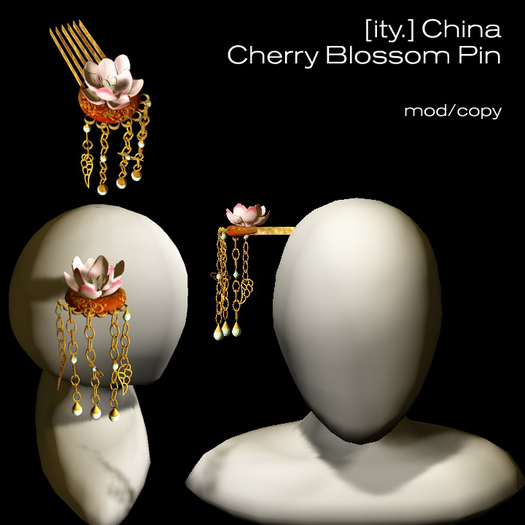 [ity.] China - Cherry Blossom Hair Pin (Design 2)