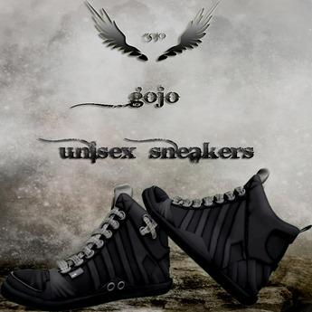 gojo creations  mesh black sneakers unisex