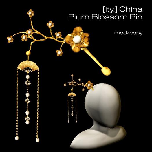 [ity.] China - Plum Blossom Hair Pin