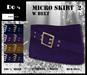 Micro Skirt w Belt 2