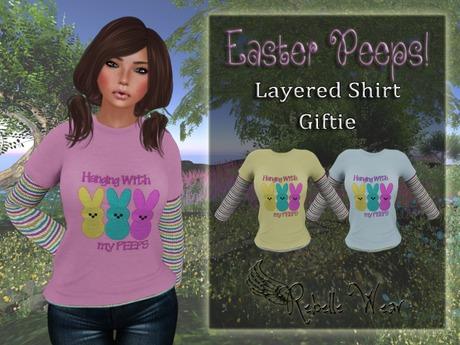 ::: Easter Peeps! Layered Shirt :::