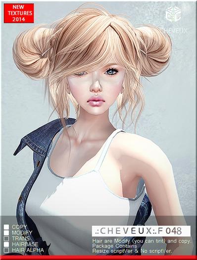 .:CHEVEUX:.F048 ASHES HAIR SET