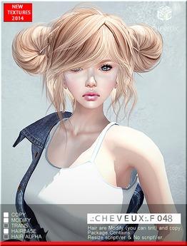 .:CHEVEUX:.F048 SILVER HAIR SET