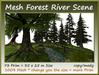 Mesh Forest River Scene 73 Prim =35x25m Size copy/mody