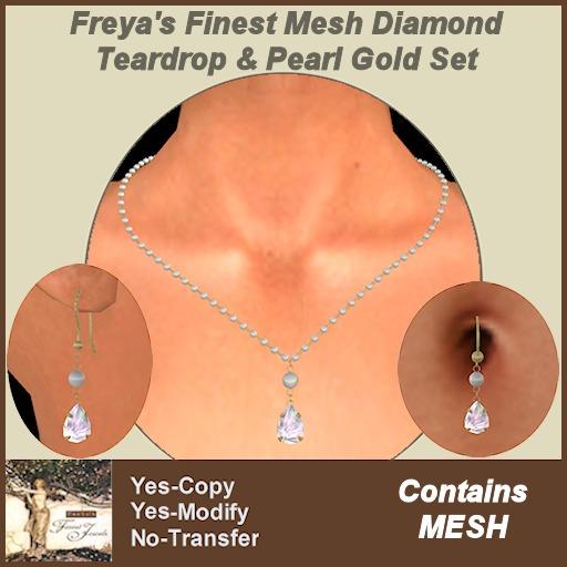 Freya's Finest MESH Diamond & Pearl Gold Set