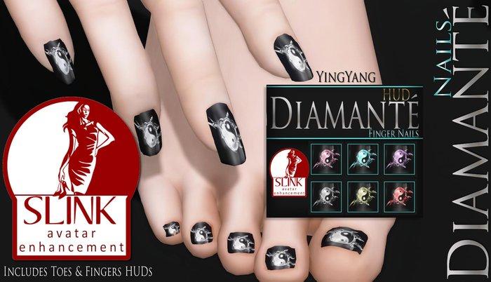 :Diamante: YingYang - Slink Enhancment Nails