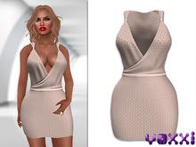 .::voxxi::. Lindsay Wrap Dress  Nude