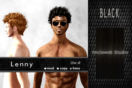 Uw.st   Lenny-Hair  Black