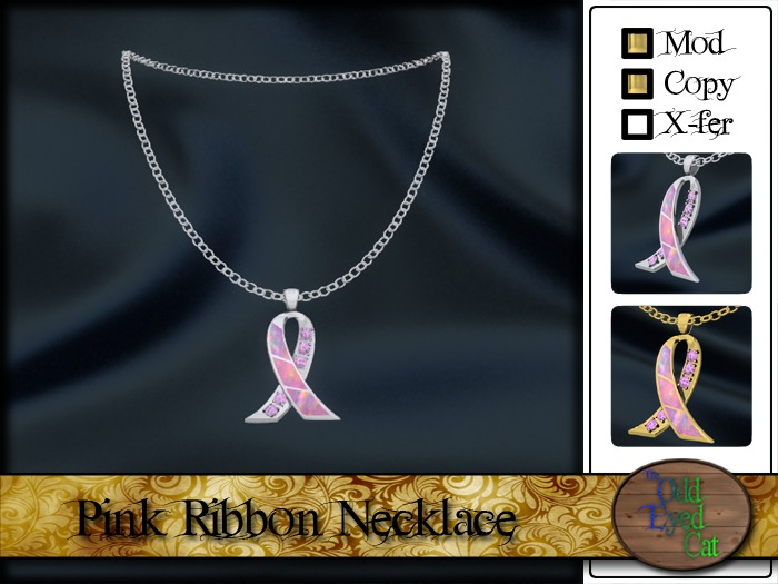 >^OeC^< Breast Cancer Awareness Necklace