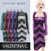 Valentina E. Chevron Dress & Optional Shrug Raspberry FITTED MESH