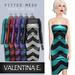 Valentina E. Chevron Dress & Optional Shrug Teal FITTED MESH