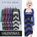 Valentina E. Chevron Dress & Optional Shrug Blueberry FITTED MESH