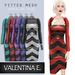 Valentina E. Chevron Dress & Optional Shrug Red FITTED MESH