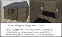 Kensington Single Horse Stable Rezzer