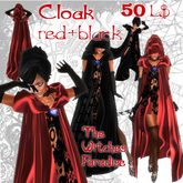 The Witches Paradise - Cloak Red+Black