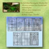 Beveled Stained Glass Rectangular Window Set