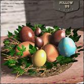 !! Follow US !! Happy Easter nest (blue) COPY version