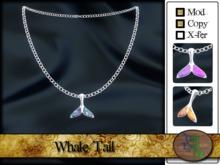 >^OeC^< Whale Tail pendant (gold/silver)(box)