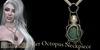 Octopus neckpiece emerald