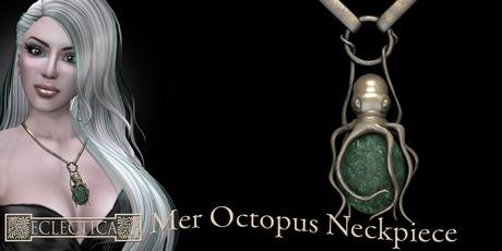 Eclectica Octopus Neckpiece-Emerald