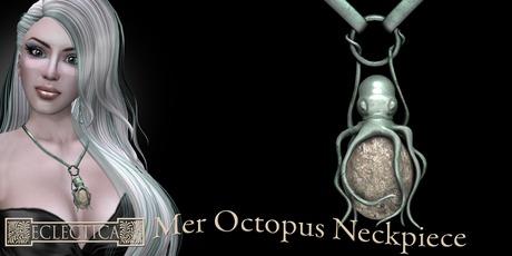 Eclectica Octopus Neckpiece-Verdigris