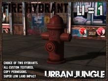 FIRE HYDRANT - BROKEN AND NORMAL - MESH - URBAN JUNGLE