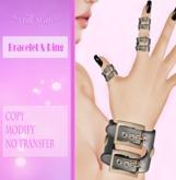 :: Millenaire Black Bracelet & Ring ::