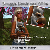*Almost Free*Yumm too much Chocolate Easter Bear By Snuggles