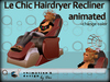Salon - Le Chic Hairdryer Recliner - lift hood - relaxed
