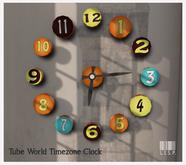 LISP - Mesh - World Timezone Clock - Tube Orange