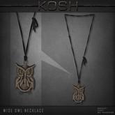 KOSH- WISE OWL NECKLACE